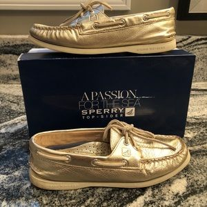 Sperry Top-Sider Metallic Gold Boat Shoes